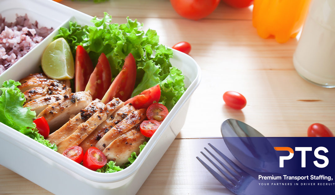 Healthy salad lunch in a food container