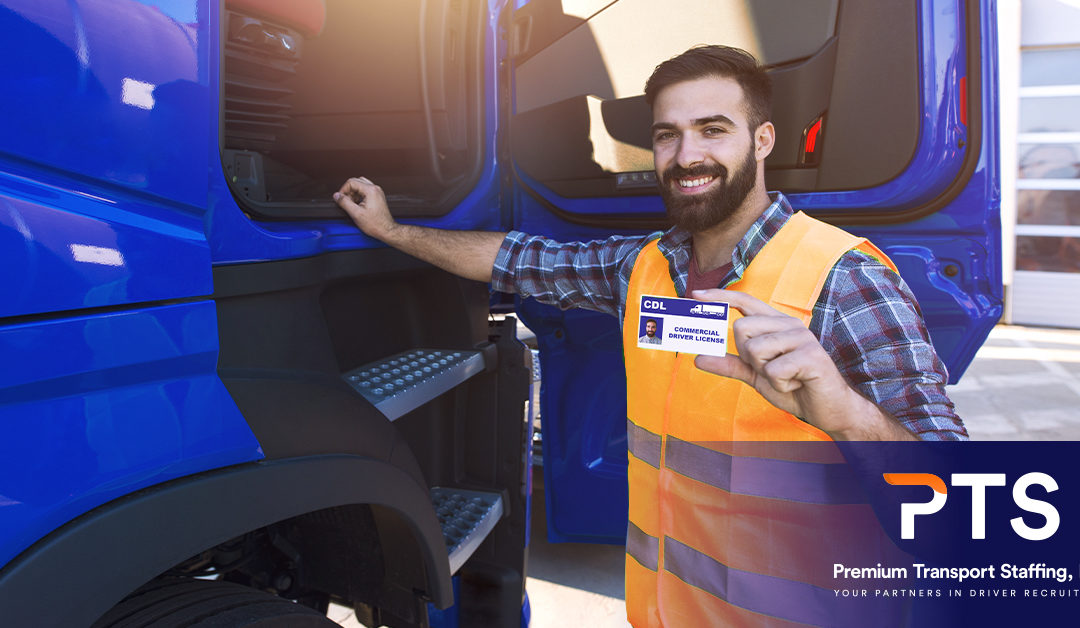 Driver holding his cdl license
